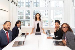 women in boardroom, leadership