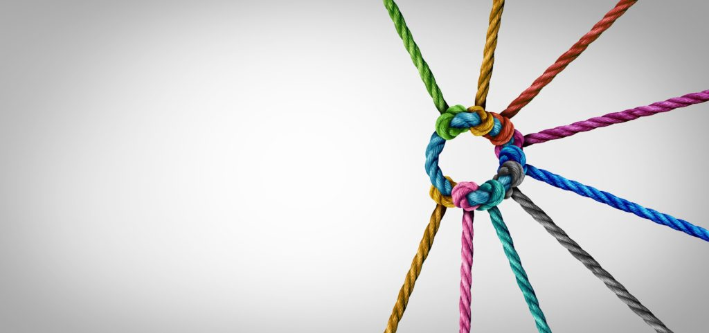 LeadQuine Coloured Rope tied together Great Meetings Create Connections