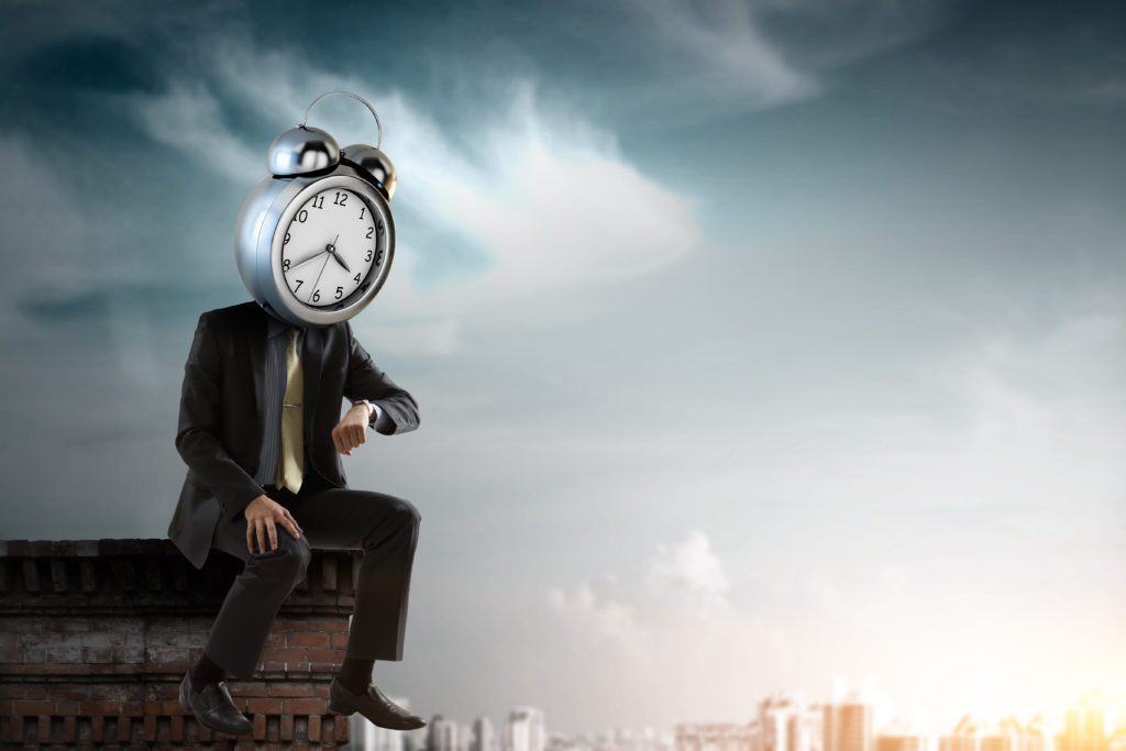LeadQuine Defender of your universe but what about your time? Blog Man with clock head